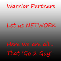 Here we can gather and develop relationships and potential partnerships with each other.  We can help each other, exchange services, seek advice and other things.    Warrior Partners,...